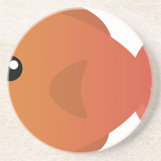 Orange Goldfish Cartoon Coaster