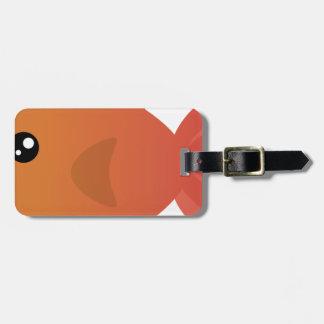 Orange Goldfish Cartoon Luggage Tag