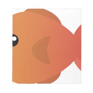 Orange Goldfish Cartoon Notepad