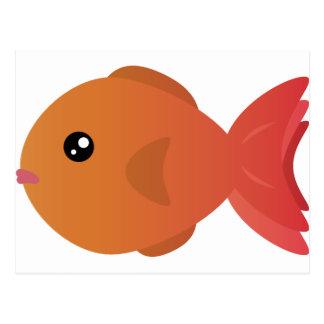 Orange Goldfish Cartoon Postcard