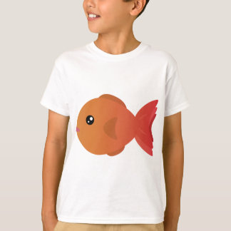 Orange Goldfish Cartoon T-Shirt