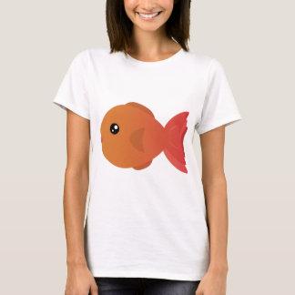 Orange Goldfish Cartoon T-Shirt