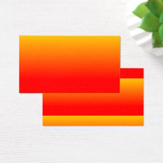 orange gradient business card