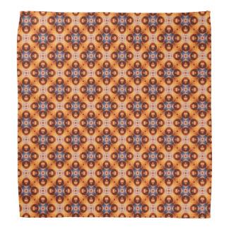 Orange Gradient Retro Mosaic Pattern Bandana