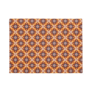 Orange Gradient Retro Mosaic Pattern Doormat