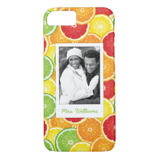 Orange, Grapefruit, Lime & Lemon | Add Your Photo iPhone 8/7 Case
