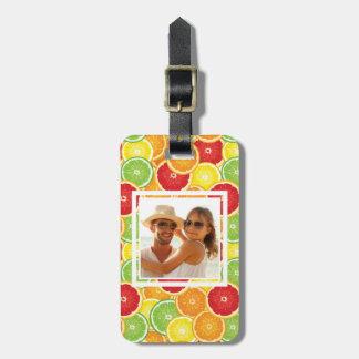 Orange, Grapefruit, Lime & Lemon | Add Your Photo Luggage Tag