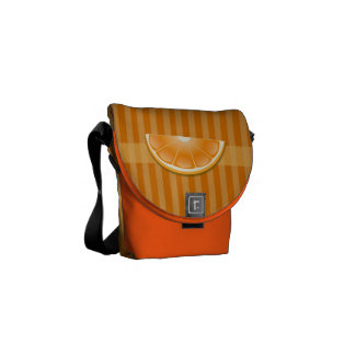 Orange graphic bag courier bags