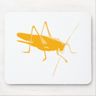 Orange Grasshopper Mouse Pad