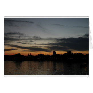 Orange & Gray Sunset Card