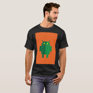 Orange Green Android System Google Modern T-Shirt