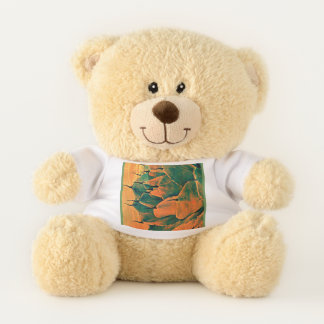 Orange/Green Cactus Teddy Bear