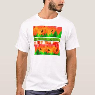 Orange Green Fall themed Wallpaper T-Shirt
