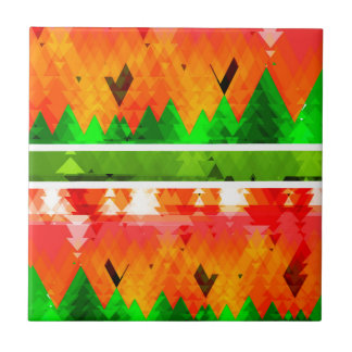 Orange Green Fall themed Wallpaper Tile