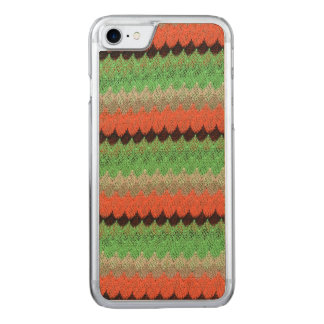 Orange Green Knit Crochet Black Lace Carved iPhone 7 Case