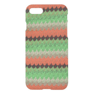 Orange Green Knit Crochet Black Lace iPhone 7 Case