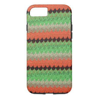 Orange Green Knit Crochet Black Lace iPhone 8/7 Case