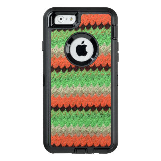 Orange Green Knit Crochet Black Lace OtterBox iPhone 6/6s Case