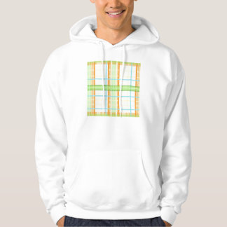 Orange & Green Modern Plaid Design Hooded Pullovers