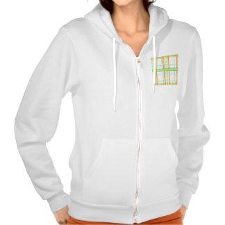 Orange & Green Modern Plaid Design Sweatshirt