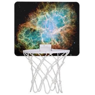 Orange & Green Nebula Mini Basketball Hoop