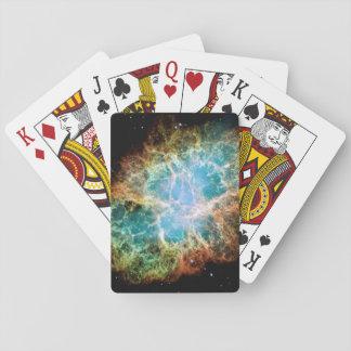 Orange & Green Nebula Poker Deck