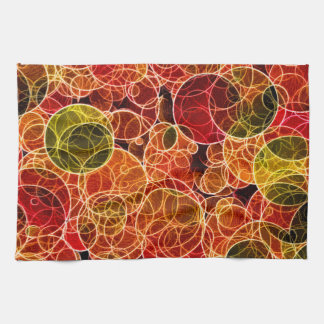 Orange_Green_Red Pattern Kitchen Towels