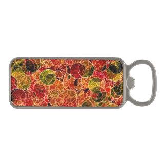 Orange_Green_Red Pattern Magnetic Bottle Opener