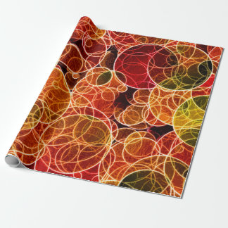 Orange_Green_Red Pattern Wrapping Paper