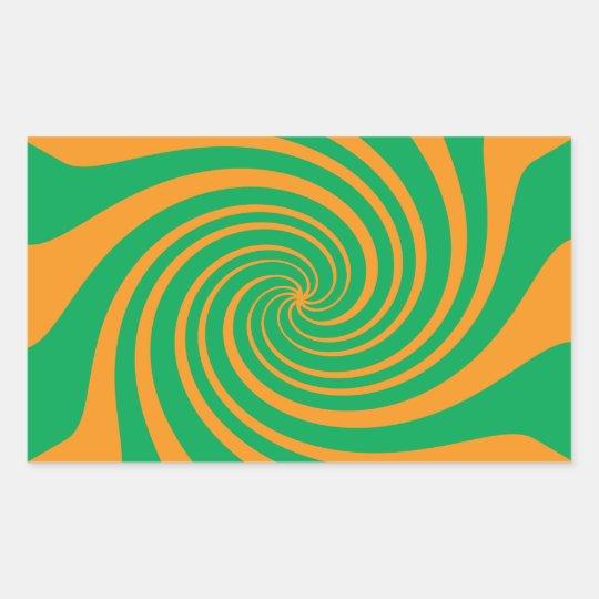 Orange green swirl sticker