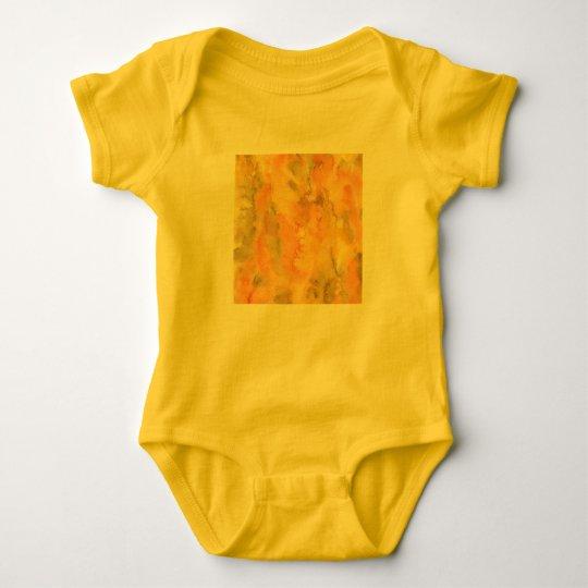 Orange Green Watercolor Baby Jersey Bodysuit