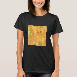 Orange Green Watercolor Women's Basic T-Shirt