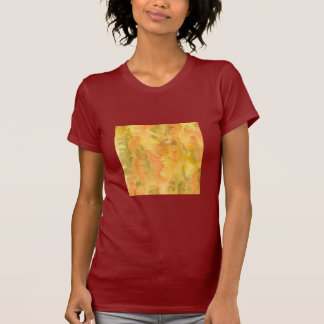 Orange Green Watercolor Women's Jersey T-Shirt