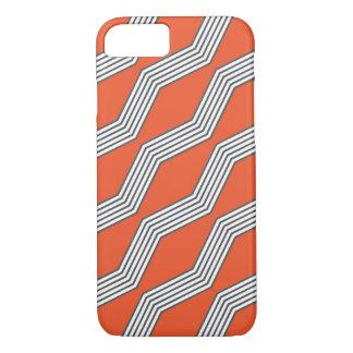 Orange & Grey Chevron iPhone 7 Case