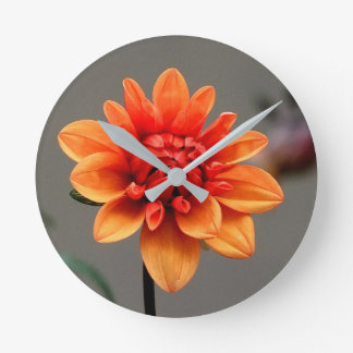 Orange & Grey Wall Clock