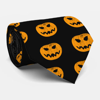 Orange Grunge Pumpkin Tie