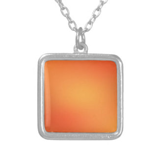 ORANGE GRUNGE SILVER PLATED NECKLACE