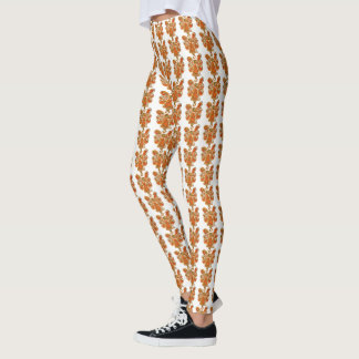 Orange Guardian Angel Art Custom Holiday Leggings