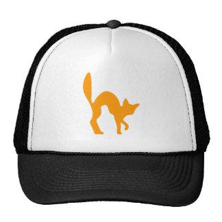 Orange Halloween Cat Mesh Hat
