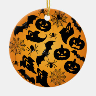 Orange Halloween Ornament