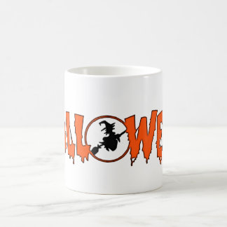 Orange Halloween text Mugs
