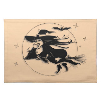 Orange Halloween Witch Placemat