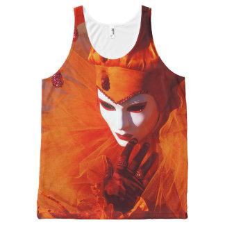Orange Harlequin From the Carnival of Venice