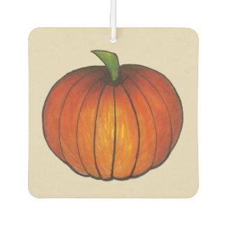 Orange Harvest Pumpkin Halloween Thanksgiving Fall Car Air Freshener