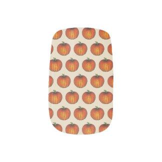 Orange Harvest Pumpkin Halloween Thanksgiving Fall Minx Nail Art