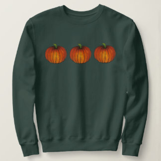 Orange Harvest Pumpkin Halloween Thanksgiving Fall Sweatshirt