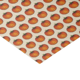 Orange Harvest Pumpkin Halloween Thanksgiving Fall Tissue Paper