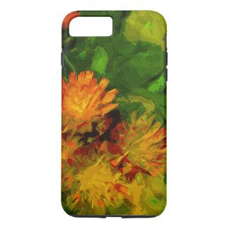 Orange Hawkweed Blossoms Abstract Impressionism iPhone 7 Plus Case