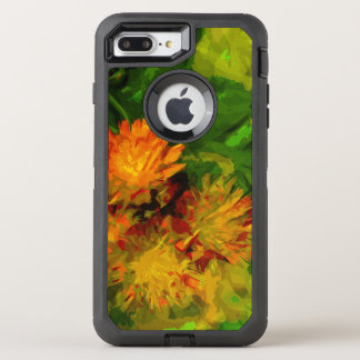 Orange Hawkweed Blossoms Abstract Impressionism OtterBox Defender iPhone 7 Plus Case