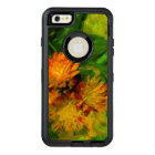 Orange Hawkweed Blossoms Abstract Impressionism OtterBox Defender iPhone Case